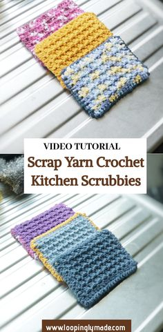 Quick Crochet Patterns, Crochet Tutorials, Crochet Patterns For Beginners, Crochet Designs, Free Crochet, Knitting Patterns, Scrap Yarn Crochet, Crochet Beret, Yarn Projects