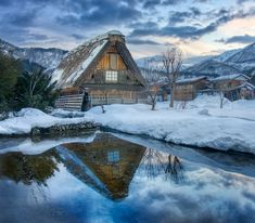 An old farmhouse in Shirakawa-go at sunset in the middle of winter. I walked about 15 km today and was as frozen as a yeti at the end of it! Hdr Photography, Street Photography, Landscape Photography, Shirakawa Go, Wallpaper Space, Apple Wallpaper, Japanese Landscape, Country Scenes, My Favorite Image