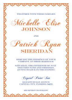 Clearly Clemintine Wedding Invitation