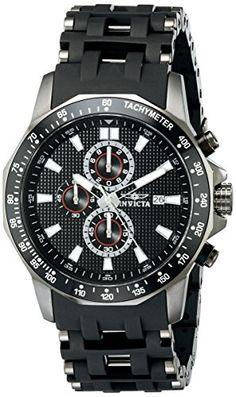 e81b4a62d6b2 Amazon.com  Invicta Men s 1933 Sea Spider Chronograph Black Dial Black  Polyurethane Watch  Invicta  Watches. Acero Inoxidable NegroBrazalete ...