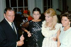 Frank Sinatra with ex-wife Nancy Sinatra Sr. and daughters Nancy and Tina