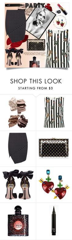 Party Stripes by celeste-menezes on Polyvore featuring Dolce&Gabbana, Boohoo, Miu Miu, Charlotte Olympia, Tommaso Lonardo, Yves Saint Laurent and Chanel