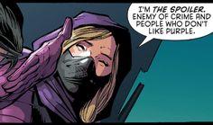 Anyone who doesn't like purple dies! Batgirl And Robin, Dc Batgirl, Nightwing, Batman Robin, Im Batman, Marvel Dc Comics, Gotham Batman, Batman Art, Superhero Family