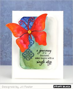 "A Penny Black Creative Die ""team-up"" with cards by Birgit Edblom and Jill Foster- details on our blog"