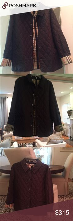 Burberry Quilted Jacket Burberry (London) Quilted Jacket. Brown. Worn only a couple times. Excellent condition. Originally/Retail Price: $595. Asking: $315. Size: Medium. OBO. Burberry Jackets & Coats
