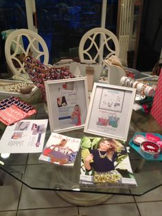 Kitchen table set up for a trunk show. www.stelladot.com/yasmineb Table Set Up, Table Settings, Dots, Gift Wrapping, Frame, Kitchen, Inspiration, Home Decor, Stitches