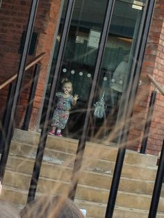 Baby Lux at the boys' hotel earlier today:)
