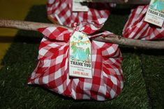 Favors at a camping birthday party! See more party ideas at CatchMyParty.com!