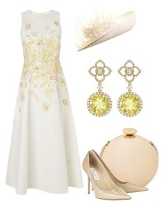 """Royal Ascot"" by claire-hamilton-bristol ❤ liked on Polyvore featuring L.K.Bennett, Love Moschino, Jimmy Choo, Kiki mcdonough and NERIDA FRAIMAN"
