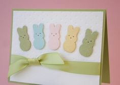 Peeps card made with the Candy Bunny die by Lifestyle Crafts.