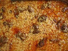 Giouvetsi is one of Greece's most traditional and loved dishes that is enjoyed by all the family. Greek Recipes, Meat Recipes, Cooking Recipes, Enjoy Your Meal, Eat Greek, Chocolate Fudge Frosting, Homemade Tomato Sauce, Greek Dishes, Mediterranean Dishes