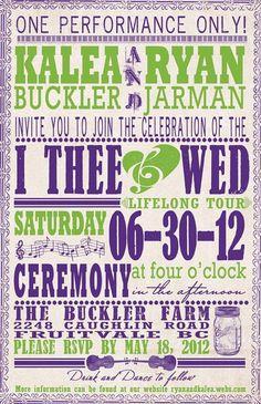Music Theme wedding invitation