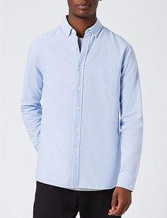 TOPMAN Classic-fit cotton Oxford shirt