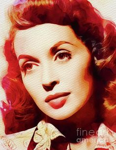 Painting - Lilli Palmer, Vintage Movie Star by Esoterica Art Agency , Vintage Movie Stars, Vintage Movies, Lilli Palmer, Star Painting, Classic Hollywood, Stock Footage, Art Prints, Wall Art, Wwii