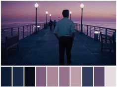 Color Script for La La Land Movie Color Palette, Colour Pallette, Beau Film, Cinema Colours, Color In Film, Damien Chazelle, Color Script, Movies And Series, Cinematic Photography