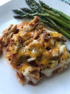 Keto BBQ Chicken Casserole {low carb friendly} | Kasey Trenum