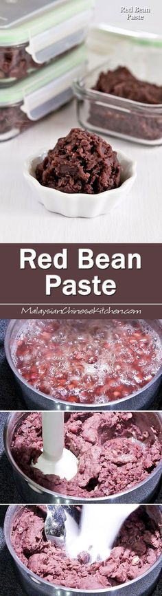A video tutorial on How to Make Red Bean Paste used in Asian pastries and desserts. Also tips on making it more suitable as a filling for mooncakes. Asian Desserts, Asian Recipes, Sweet Recipes, Alcoholic Desserts, Alcoholic Shots, French Desserts, Asian Foods, Red Bean Paste, Japanese Sweets