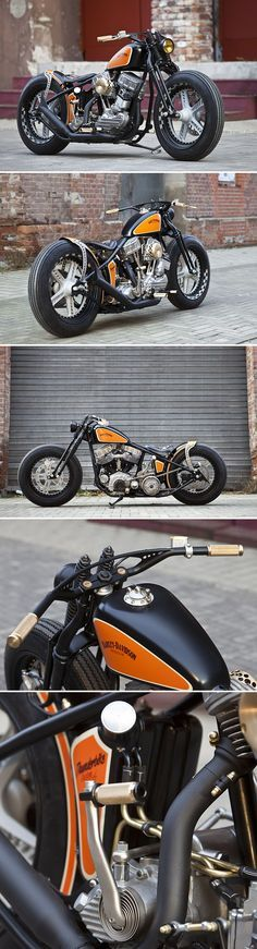 1951 HARLEY-DAVIDSON PANHEAD. Not a fan of some of the body work or the wheels, but that engine is killer.