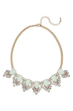 Pretty beaded pastel statement necklace.