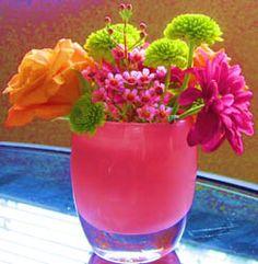 glassybaby - melissa's amazing floral decoration - love, love, love
