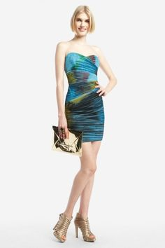 Ocean deep strapless dress