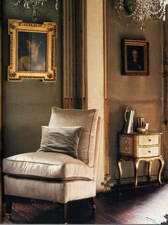 greige-brown-gray-decorating-gilded-frame-french-nightstand-eclectic-home-decor-ideas1