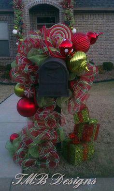 Custom Mailbox Garland!! Simply Beautiful