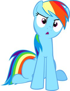 Rainbow Dash distraught.