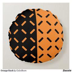 Soft Pillows, White Pillows, Orange Cushions, Round Pillow, Silk Pillow, Decorative Cushions, Soft Fabrics, Vibrant Colors, Monogram