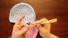 ▶ Crochet Baby Hat Beanie With Ribbed Trim for 0-3 Months Old Part 1 - Video Dailymotion
