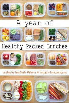 A Year of Healthy Packed Lunches in EasyLunchboxesYou can find Lunch snacks and more on our website.A Year of Healthy Packed Lunches in EasyLunchboxes Healthy Packed Lunches, Prepped Lunches, Lunch Snacks, Healthy Meal Prep, Healthy Recipes, Snack Boxes Healthy, Non Sandwich Lunches, Healthy Food, Lunch Box Meals
