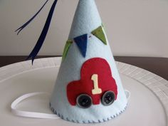 Car+Felt+Party+Hat+Birthday+Hat++Boy+Party+by+LizziePaigeBoutique,+$20.00