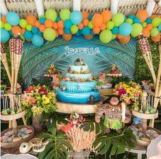 Pool party ideas for kids backdrop 50 ideas Moana Birthday Party Theme, Moana Themed Party, Birthday Party Snacks, Moana Party, Luau Birthday, Luau Party, 3rd Birthday Parties, Festa Moana Baby, Hawaiian Baby Showers