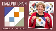 """Make a """"Diamond Chain"""" Quilt with Jenny Doan of Missouri Star (Video Tutorial) Charm Pack Quilt Patterns, Charm Pack Quilts, Star Quilt Patterns, Star Quilts, Easy Quilts, Quilt Blocks, Patch Quilt, Scrappy Quilts, Quilting Fabric"""