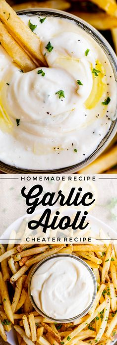 Garlic Aoli Recipe, Aoili Recipe, Roasted Garlic Aioli, Egg Sauce Recipe, Garlic Sauce, Homemade Aioli, Homemade Mayonnaise, Mayonnaise Recipe, Sauce Recipes