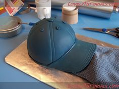 baseball hat cake tutorial