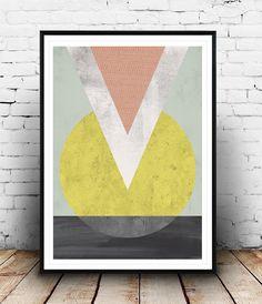 Imprim g om trique r sum de triangles miminalist for Tableau geometrique pastel