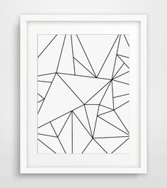 Geometric Art, Black and White, Minimalist Art, Geometric Print Art, Origami Art, Modern Wall Art, White Geometric, Minimal Print Art #GeometricArt