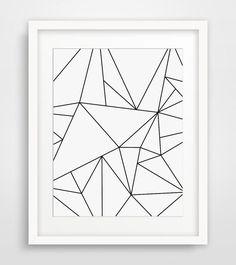 Geometric Art, Black and White, Minimalist Art, Geometric Print Art, Origami Art, Modern Wall Art, White Geometric, Minimal Print Art #GeometricArt