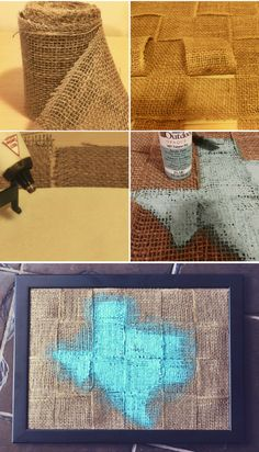 Painted Burlap Wall Art DIY