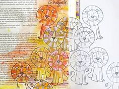 Daniel in the Lions' Den by Natalie Elphinstone Daniel And The Lions, Book Of Daniel, Bible Study Journal, Journal Art, Art Journaling, Bible Art, Bible Verses, Illustrated Faith, Walk By Faith