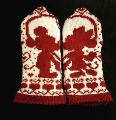 Guanti Mickey and Minnie Mittens pattern by Starlight Honeymoon Creations Knitted Mittens Pattern, Crochet Mittens, Knitted Gloves, Knitting Charts, Knitting Socks, Knitting Patterns, Crochet Quilt, Knit Crochet, Wrist Warmers