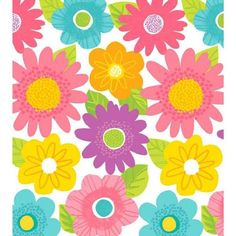 Spring Fling Plastic Tablecover feature a delightful, contemporary multi-hued spring floral pattern. Package includes one 54x102in plastic tablecover. Our Spring Fling ensemble is perfect for any spring or Easter celebratio
