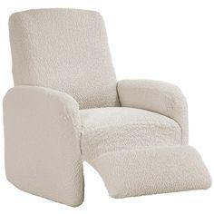Bielastické potahy BUKLÉ smetanová - Nebaví Vás pohled na opotřebený potah Vašeho starého křesla Máme pro vás řešení S našimi napínacími potahy změníte vzhled Vašeho relaxačního křesla během chvilky. Recliner, Armchair, Lounge, Furniture, Home Decor, Chair, Sofa Chair, Airport Lounge, Single Sofa