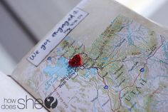 map o' love- a map memory journal. great gift for hubby for valentine's day, anniversary, etc Memory Journal, Love Journal, Paper Anniversary, Anniversary Ideas, Valentine Day Gifts, Valentines, Paper Crafts, Diy Crafts, O Love