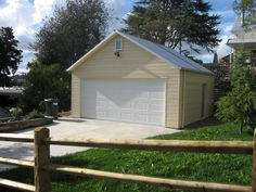 Garage | Versatile Garage | Double Garage | Cream Garage Handyman Projects, Double Garage, Shed, Things To Come, Outdoor Structures, Cream, Building, Places, Inspiration
