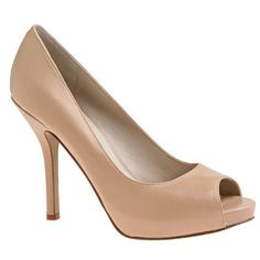 Nude shoe. Every girl needs a pair of nude heels <3