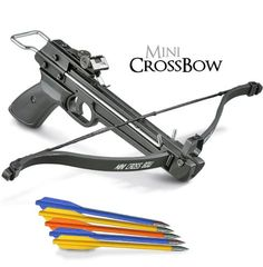 50 lb. Mini Crossbow Pistol Hand Held Gun Archery Hunting Cross Bow w/ 5 Arrows Crossbow http://www.amazon.com/dp/B00FH7DRFG/ref=cm_sw_r_pi_dp_IPIEwb054F8ED