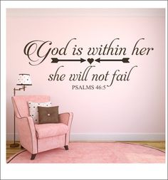 God is Within Her Decal She Will Not Fail by CustomVinylbyBridge