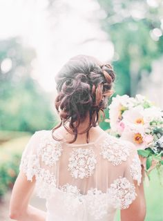 Wedding dress back styles we love: http://www.stylemepretty.com/2014/07/22/wedding-dress-back-styles-we-love/ | Photography: http://michellemarch.com/blog/